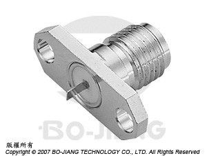 SMA FEMALE RF/MIRCOWAVE COAXIAL CONNECTOR FLANGE MODE RECEPT TYPE WITH TAB