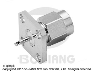 SMA MALE RF/MIRCOWAVE COAXIAL CONNECTOR FLANGE MODE RECEPT TYPE WITH SOLDER CUP
