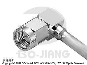 SMA MALE RF/MIRCOWAVE COAXIAL CONNECTOR RIGHT ANGLE MODE, DIRECT SOLDERING