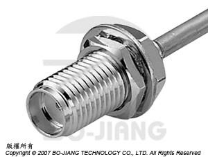 SMA FEMALE RF/MIRCOWAVE COAXIAL CONNECTOR RIGHT ANGLE MODE, DIRECT SOLDERING TYPE