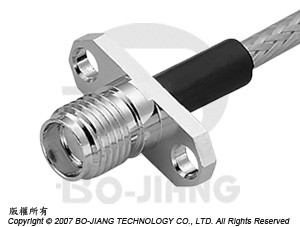 SMA FEMALE RF/MIRCOWAVE COAXIAL CONNECTOR FLANGE MODE CRIMP TYPE