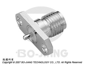 SMA FEMALE RF/MIRCOWAVE COAXIAL CONNECTOR FLANGE MODE RECEPT TYPE WITH BLUND POST
