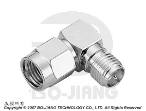 SMA Reverse Polarity R/A PLUG TO JACK ADAPTOR - SMA Reverse Polarity R/A Plug to Jack Adaptor