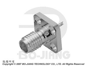 SSMA Connectors, Flange type