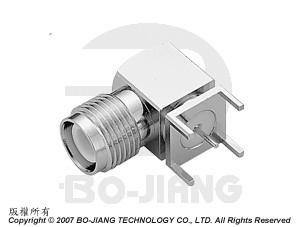 TNC Reverse Polarity R/A PCB MOUNT JACK - TNC Reverse Polarity R/A PCB Mount Jack