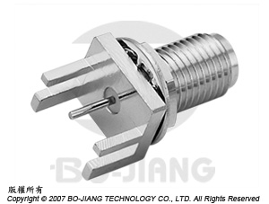 SMA FEMALE RF/MIRCOWAVE COAXIAL CONNECTOR BULKHEAD MODE END LAUNCH TYPE - SMA JACK End Launch