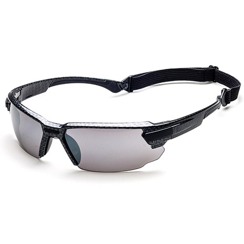Safety glasses with changeable lenses with accessory cord