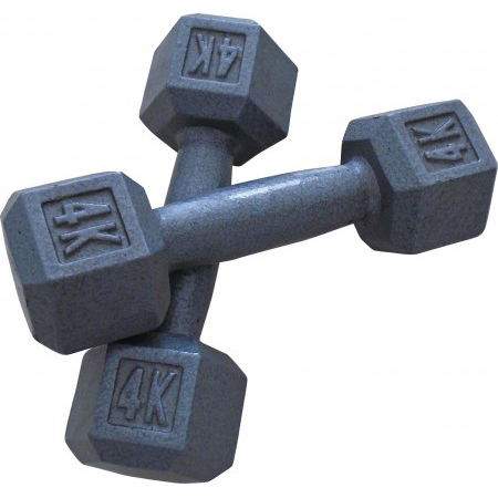 Hex Grey Hammertone Dumbbell
