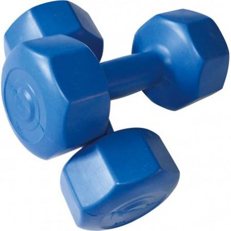 Hex cement dumbbell