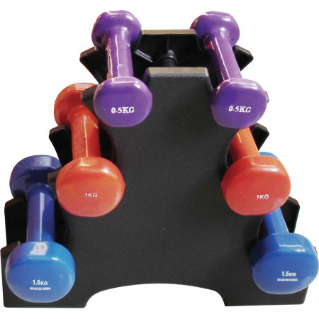 Vinyl Dipping Dumbbell Set
