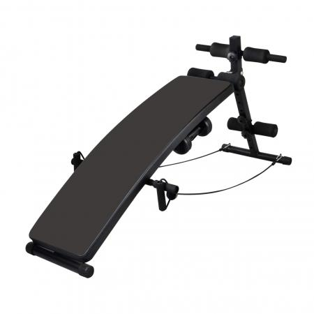 Sit-Up Bench With 3kg Dumbbells and rope
