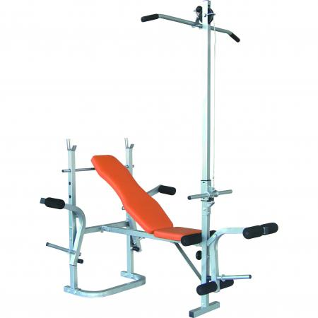 Weight Bench with Top Lat