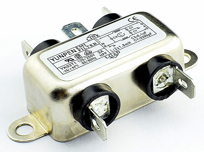 Fast-on connection YK-T1 is the single phase one-stage filter for general purpose.