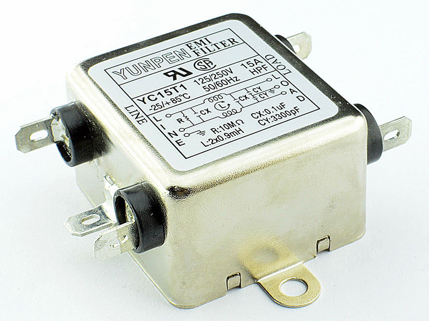 Fast-on connection YC-T1 is the single phase one-stage filter for general purpose.