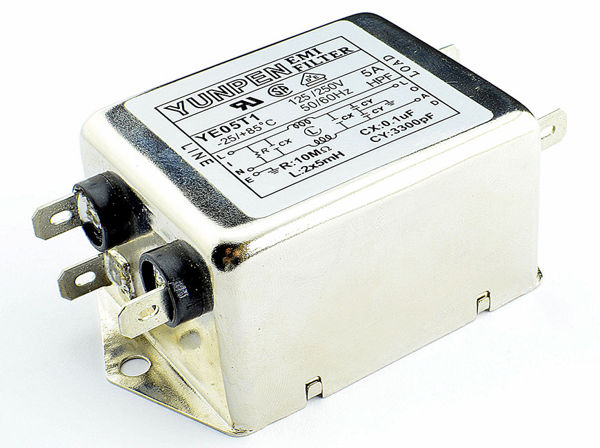Fast-on connection YE-T1 is the single phase one-stage filter for general purpose.