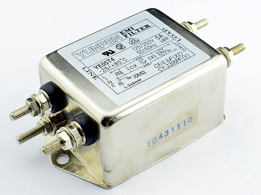 M4 screw terminal YE-T4 is the single phase one-stage filter for general purpose.