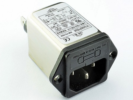 Fast-on Terminal Power Entry Module Filters YL-T1 - The rated current can be offered up to 10 amps and available with single fuse holder.