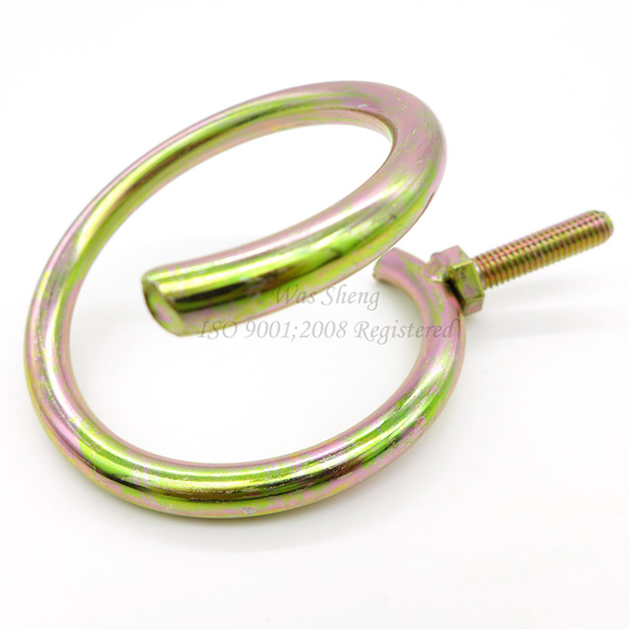 Grade 5 Hose Hanger with M8 Welded Screw Yellow Zinc Plating