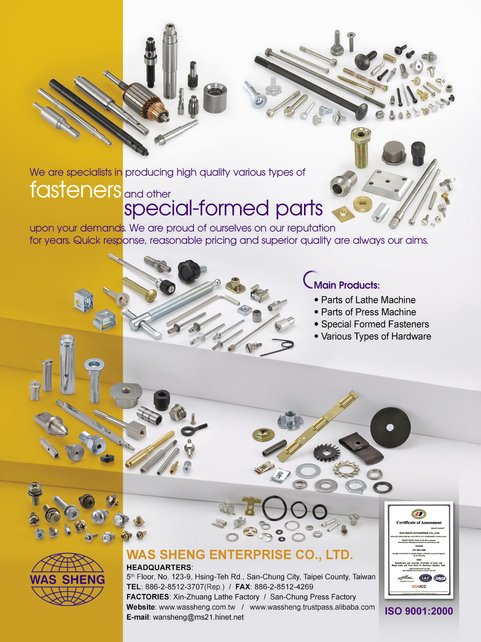 Being Dedicated to Development of High Value Added Fasteners and