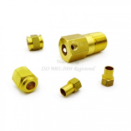 Brass Hex Coupling Nuts - This is custom fastener by CNC machining with specific fitting shape, depends on customer's request and we can produce different thread like BSP or NPT.
