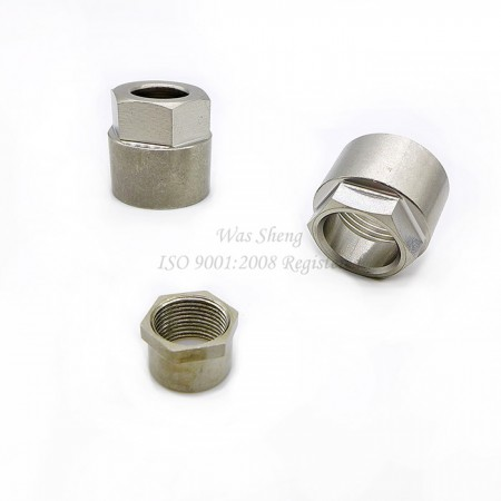Stainless Steel Hex Cap Tube Coupling Nuts, Pipe Connector - Stainless Steel Hex Cap Tube Coupling Nuts, Pipe Connector