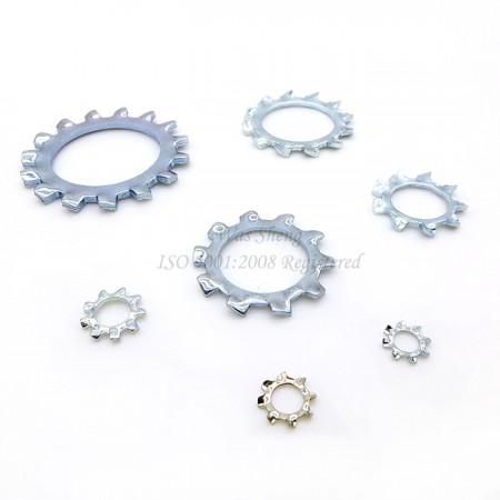 DIN 6797 แหวนล็อคฟันภายนอก - DIN 6797 แหวนล็อคฟันภายนอก