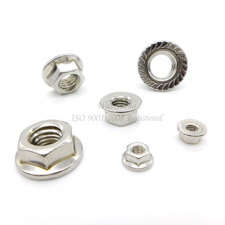Stainless Steel Hex Serrated Flange Nuts DIN 6923, IFI - Stainless Steel Hex Serrated Flange Nuts DIN 6923, IFI