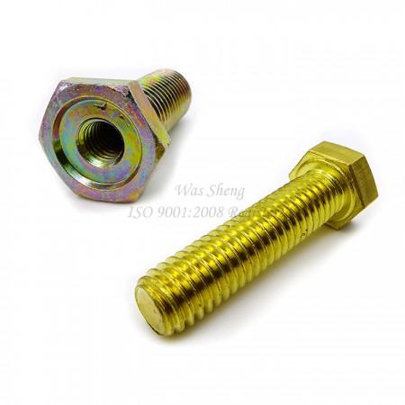 สกรูหัวจม หกเหลี่ยม ทองเหลือง เกลียวเต็ม หกเหลี่ยมภายนอก เหล็กสีเหลือง Zinc - สกรูหัวจม Hex Socket Head ทองเหลือง Bolts หกเหลี่ยมภายนอกเต็มเธรด เหล็กสีเหลือง Zinc
