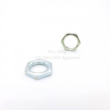 Cable Glands Hex Thin Jam Lock Nuts, เหล็กชุบสังกะสี - Cable Glands Hex Thin Jam Lock Nuts, เหล็กชุบสังกะสี