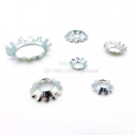 आंतरिक / बाहरी टूथ लॉक वाशर - IFI काउंटरसंक बाहरी दांतेदार लॉक वाशर