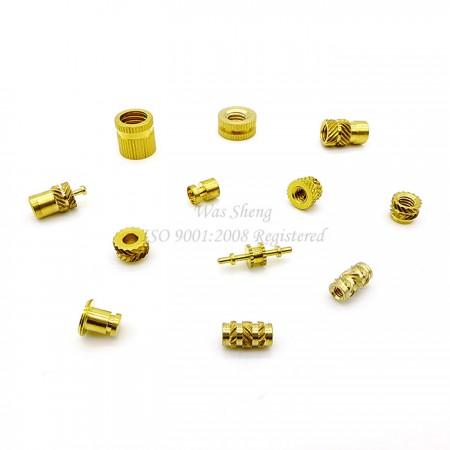 เม็ดมีด Knurling ทองเหลืองเกลียวสำหรับแม่พิมพ์พลาสติก - เม็ดมีด Knurling ทองเหลืองเกลียวสำหรับแม่พิมพ์พลาสติก