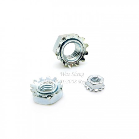 Hex Keps Lock Nuts Steel Zinc Plated - Hex Keps Lock Nuts Steel Zinc Plated