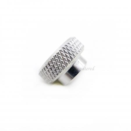 Aluminum 6061-T6 Knurled Spacer Plain Finish