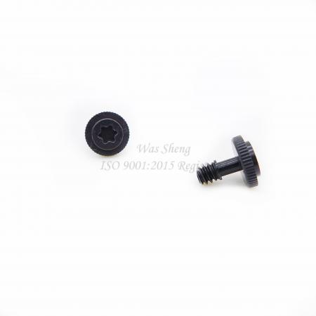 Metric Captive Knurled Torx Screws Black Zinc Plating