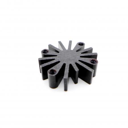อลูมิเนียม 6061 ฮีทซิงค์อัดรีดสีดำ Anodized - อลูมิเนียม 6061 Extrusion Heatsink Black Anodized Finish
