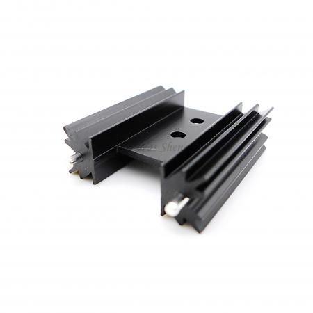 Aluminium Extrusion IC Board Heatsink Black Anodized with Brass Pin - Aluminium Extrusion IC Board Heatsink Black Anodized with Brass Pin