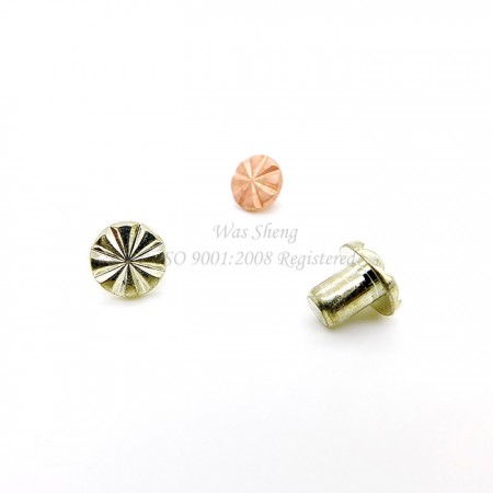 Copper Cooling Rivets with Groove Tin Plating - Copper Cooling Rivets with Groove Tin Plating