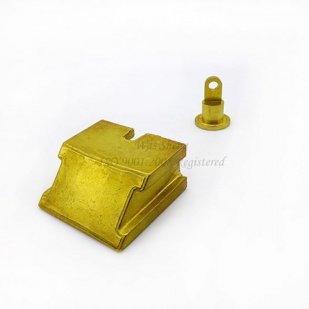 Brass Slide Block (Fallenkopf), Hinge Nut - Brass Slide Block (Fallenkopf), Hinge Nut