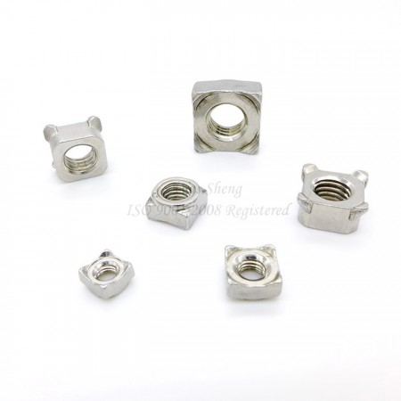 DIN 928, DIN 557 Stainless Steel Square Spot Welding Nuts - DIN 928, DIN 557 Stainless Steel Square Spot Welding Nuts