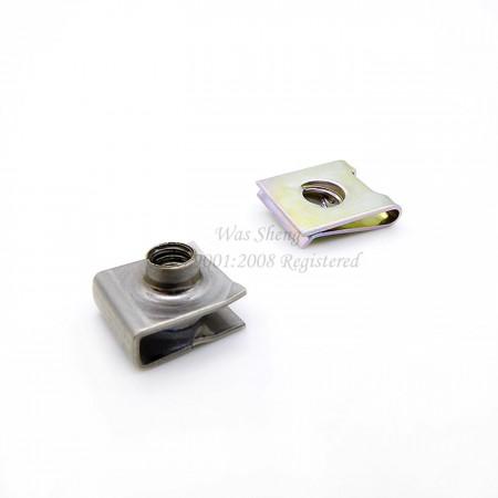 स्प्रिंग स्टील कैप्टिव यू-टाइप रिटेनिंग नट्स - स्प्रिंग स्टील कैप्टिव यू-टाइप रिटेनिंग नट्स
