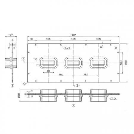 Placa de buje epóxico para barras colectoras (para cableado horizontal)