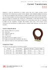 Low-Voltage Epoxy-Cast Current Transformers for Indoor Use (Window-Type), CR-1S Series