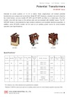 Coil Molded Potential Transformers (EP-3SF/6SF Series)