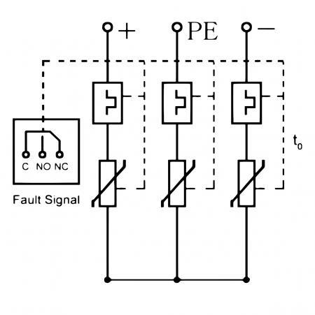 PV 系統突波保護器 (接線圖)