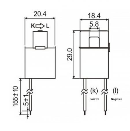 Split Core Current Sensors C06 Series Drawing