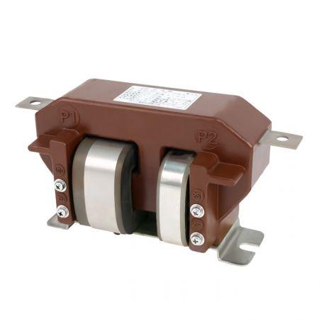 Transformador de corrente moldado com bobina de dois núcleos com núcleos cortados, 3kV