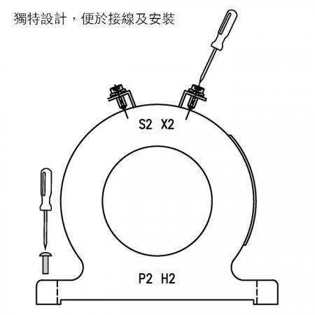 易於接線與安裝的巧力 CIC 低壓比流器 POS 系列