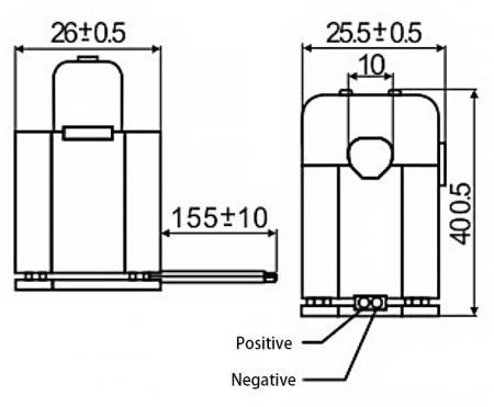 Split-Core Current Sensors C10 Series Drawing