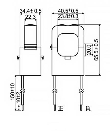 開口式電流傳感器 C24 系列尺寸圖