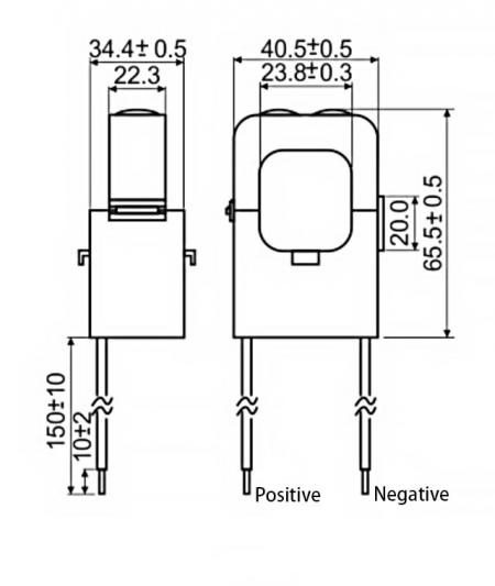 Split-Core Current Sensors C24 Series Drawing